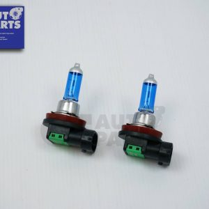 2 x H11 12V 55W White/Blue Halogen Car Headlights Globes / Bulbs 4500K-0