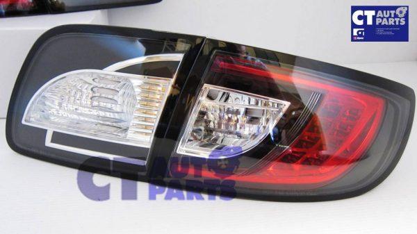 MAZDA 3 4 doors Sedan 03-09 Black LED Tail lights-0