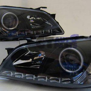 Black DRL AngleEye Projector Headlight 99-05 LEXUS IS200 IS300 Toyota Altezza-0