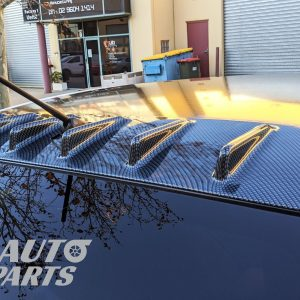 Carbon Style Vortex Generator Roof Spoiler for 07-17 Mitsubishi Lancer CJ VRX -0