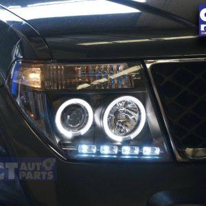 ANGEL-EYES Black HeadLight for PathFinder R51 Nissan Navara D40 CLR-0