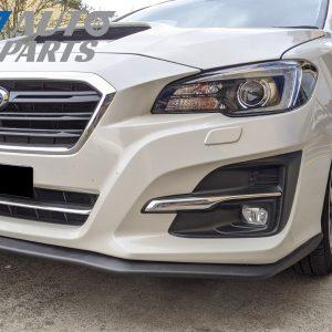 STI Style Front Bumper Lip Spoiler for 14-17 Subaru LEVORG STI Matte Black -0