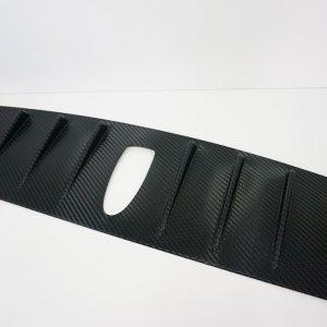 14-18 SUBARU WRX STI 3D Carbon Matte Black VORTEX GENERATOR Roof Spoiler-0