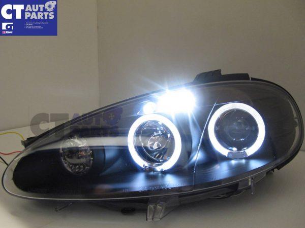 JDM Black LED Angel Eyes Projector Head Lights for 01-05 MAZDA MX5 NB MX 5 -5772
