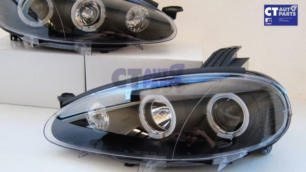 JDM Black LED Angel Eyes Projector Head Lights for 01-05 MAZDA MX5 NB MX 5 -5777