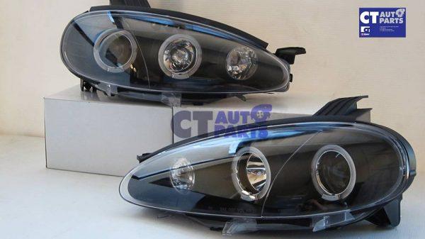 JDM Black LED Angel Eyes Projector Head Lights for 01-05 MAZDA MX5 NB MX 5 -5774