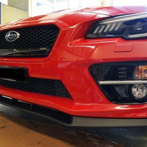 CT AUTO MP FRONT Bumper Lip for 14-18 SUBARU WRX STI V1 Matte Black-0