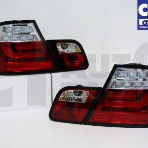 CLEAR RED LED Light Bar Tail Lights BMW E46 98-02 COUPE 2DOOR 330CI 328CI 320CI 318CI-0