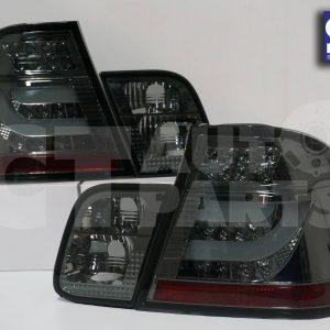 LED Light Bar Tail Lights BMW E46 98-01 4D Sedan 318i 320i 323i 330i SMOKED-0