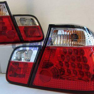 Clear Red LED Tail light for 98-01 BMW E46 3 Series 4D 318i 320i 330i-0