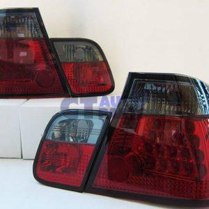 Red Smoke LED Tail light for 98-01 BMW E46 3 Series 4D 318i 320i 330i-0