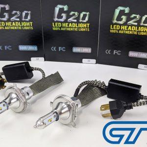 H4 Hi/Low BEAM 8000LM 6000k CREE G20 LED Bulbs Conversion Kit -0