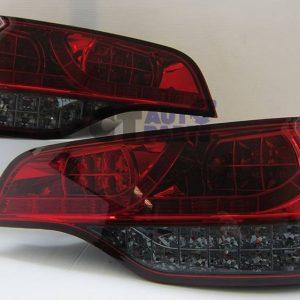 Red Smoked LED Tail Lights AUDI Q7 05-10 Taillight RS QUATTRO FSi TDI-0