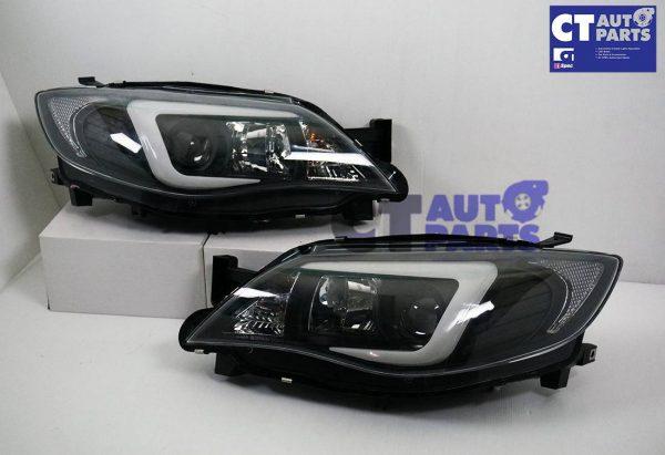LED 3D DRL Projector Head Lights for 08-13 Subaru Impreza WRX 08-13 Dynamic Indicator -6875