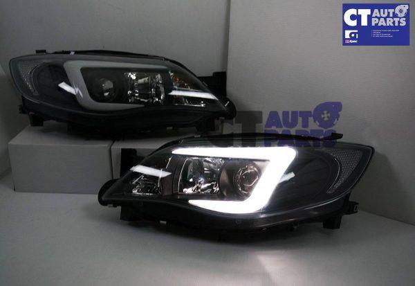 LED 3D DRL Projector Head Lights for 08-13 Subaru Impreza WRX 08-13 Dynamic Indicator -6877