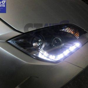 DRL LED Black Projector Headlights 03-05 Nissan 350Z Z33 Fairlady HID TYPE-0