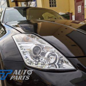 LED DRL Angel Eyes Projector Head Lights Nissan 350Z Z33 03-05 Fairlady-0