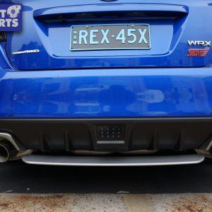 STI Style Rear Bumper Diffuser for 14-19 SUBARU WRX STI Metallic Silver -0