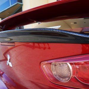 Carbon Fibre Rear Trunk Spoiler for 07-18 Mitsubishi Lancer CJ ES VRX -0