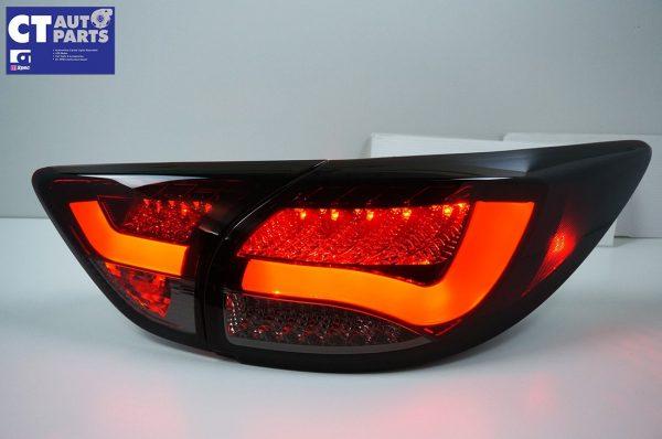 Smoked Red 3D LED Stripe Bar LED Blinker Tail lights for 12-15 Mazda CX-5 KE-7829