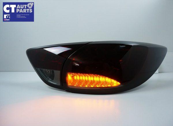Smoked Red 3D LED Stripe Bar LED Blinker Tail lights for 12-15 Mazda CX-5 KE-7830