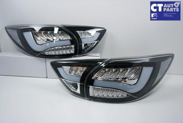 Black 3D LED Stripe Bar LED Blinker Tail lights for 12-15 Mazda CX-5 KE-0