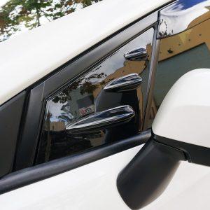 Glossy Black Side Vents Window Louver Cover For 14-18 Subaru WRX STI V1-0