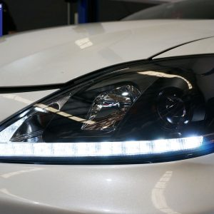 Lexus IS250 IS350 ISF Black LED DRL Day-Time Projector Head Lights Headlight Dynamic Indicator -0