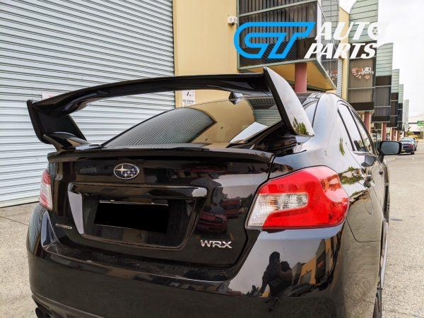 STI Style Trunk Spoiler for 14-19 Subaru WRX STI ABS Painted D4S C Black Silica 3PC-12405