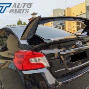 STI Style Trunk Spoiler for 14-19 Subaru WRX STI ABS Painted D4S C Black Silica 3PC-0