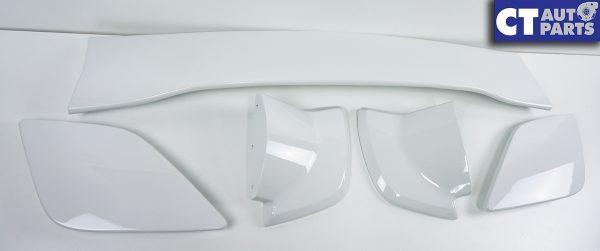 5PCS STI Style Trunk Spoiler 14-18 SUBARU WRX STI V1 V2 WHITE-0