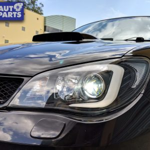 LED 3D Stripe DRL Projector Head Lights for 05-07 Subaru Impreza WRX GD HID TYPE -0