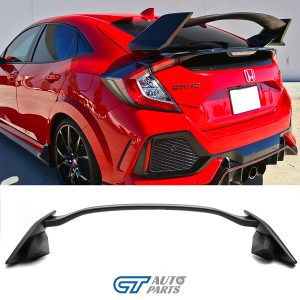 Type R Style ABS Trunk Spoiler For MY16-19 Honda Civic 10th FK4 FK7 (UNPAINTED)-0
