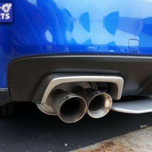 STI Style SILVER Exhaust Cover Heat Surround For 14-19 Subaru WRX STI V1-0