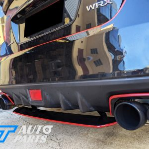 STI Style ABS Rear Bumper Diffuser for 14-19 Subaru WRX STI Premium (BLACK/RED)-0