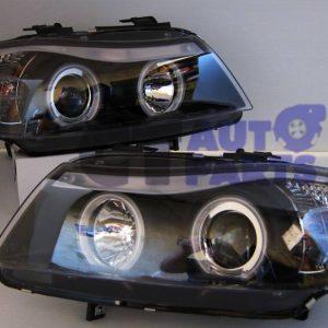 Black LED Angle Eye Projector Headlight for 05-08 BMW E90 Sedan 320i 323i 325i 335I 330i M3-0