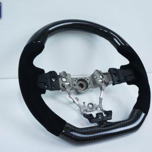Carbon Fibre Alcantara Steering Wheel BLACK Stitching Subaru WRX/STI 2015-19 LEVORG-0