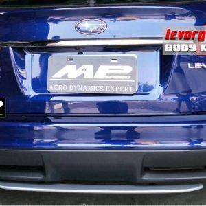 STI Style ABS Rear Bumper Diffuser (Silver) For 14-18 Subaru Levorg WAGON -0