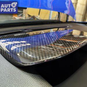 Dry Carbon Instrument Panel Garnish Console Cover for 14-19 Subaru WRX STI LEVORG -0