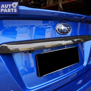 Dry Carbon Rear Trunk Trim Cover For 14-19 Subaru WRX STI V1 Premium-0