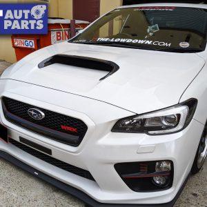 R.Style Carbon Front Bonnet Scoop Vent Cover Trim For 2014-2020 Subaru WRX/STI & LEVORG-0