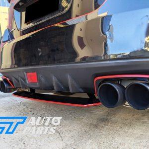 STI Style Black Red Exhaust Cover Heat Surround For 14-19 Subaru WRX STI V1-0