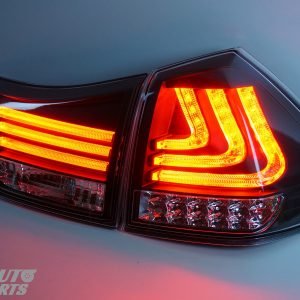Black LED Sequential Indicators Tail lights for 04-09 Lexus RX330 RX350 RH400H-0