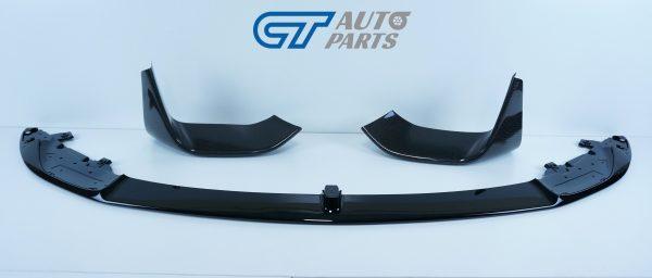 M Performanceloss Glossy Black Front Lip / Carbon Splitters for 14-19 BMW M3 F80 M4 F82-11483