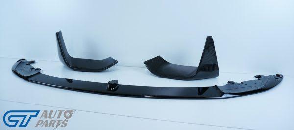 M Performanceloss Glossy Black Front Lip / Carbon Splitters for 14-19 BMW M3 F80 M4 F82-11481