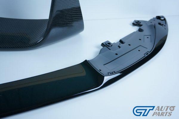 M Performanceloss Glossy Black Front Lip / Carbon Splitters for 14-19 BMW M3 F80 M4 F82-11482