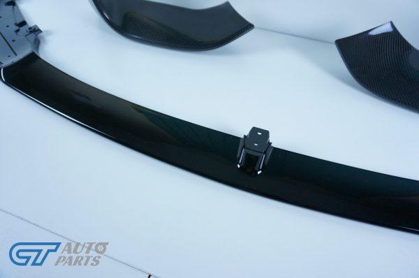 M Performanceloss Glossy Black Front Lip / Carbon Splitters for 14-19 BMW M3 F80 M4 F82-11485