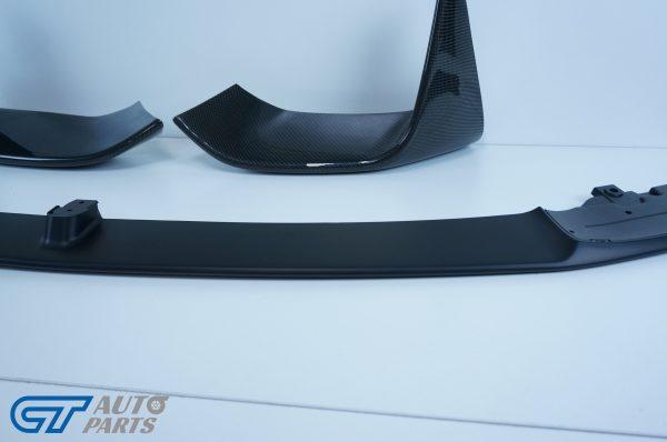 BMW M3 F80/ M4 F82 M Performance ABS Matte Black Front Lip / Carbon Splitters -11439
