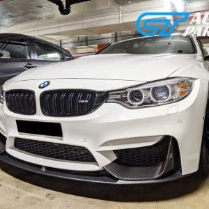 BMW M3 F80/ M4 F82 M Performance ABS Matte Black Front Lip / Carbon Splitters -0