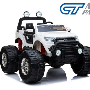Licensed 4WD Ford Ranger Car Monster Truck Kid Toy Rid on Remote Control White-0